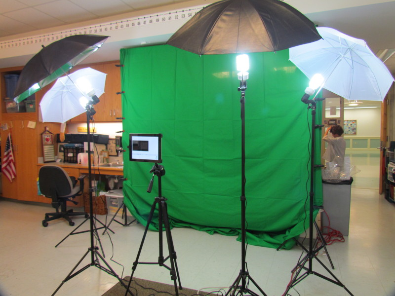 green screen studio from Donors Choose